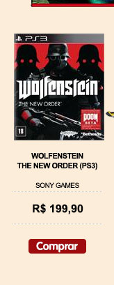 'WOLFENSTEIN - THE NEW ORDER (PS3) lançamento