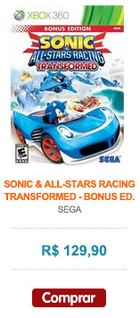 sonic e all stars racing tranformed bonus ed